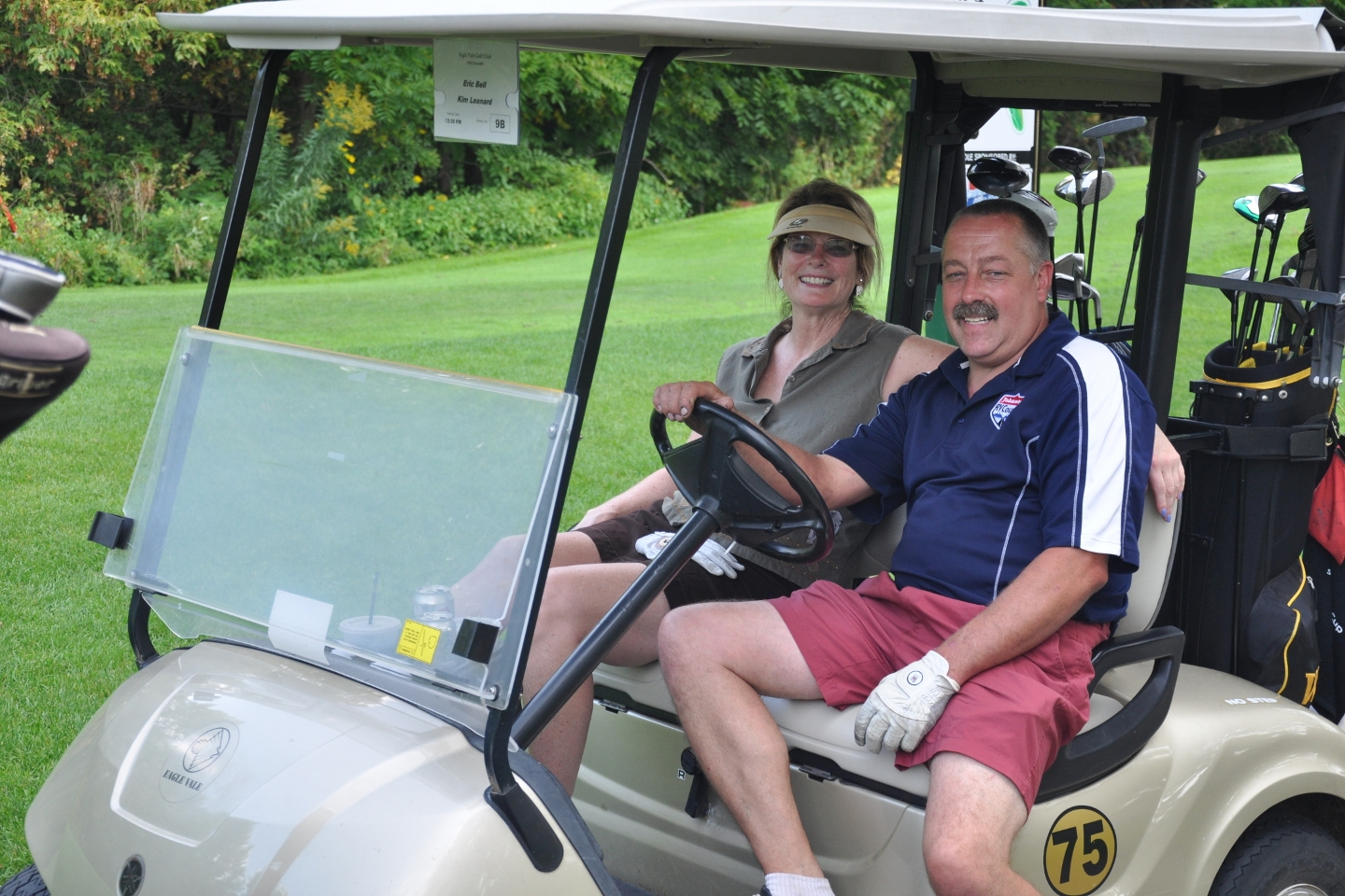 Post members, Auxiliary members & guests gather to partake in the annual golf tournament